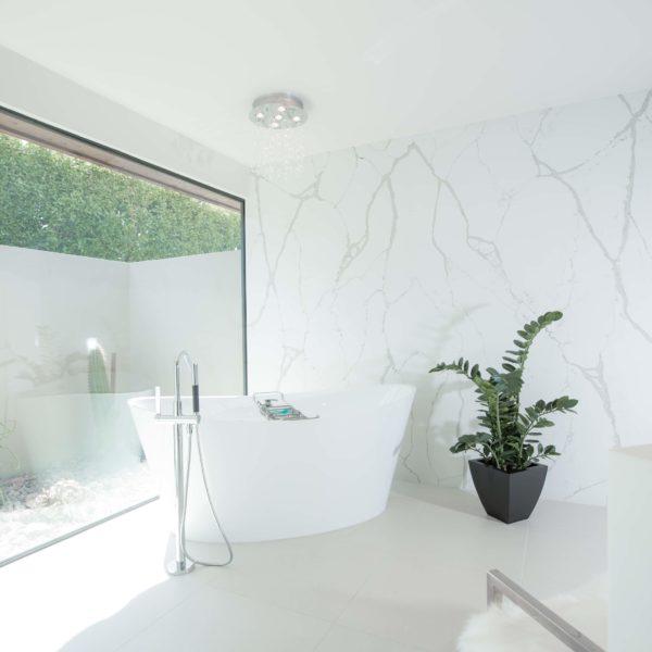 corian quartz bathroom