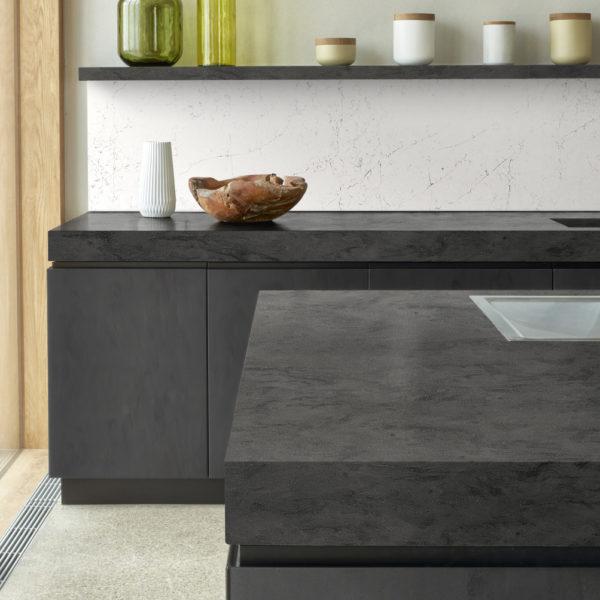 corian kitchen backsplash and countertop