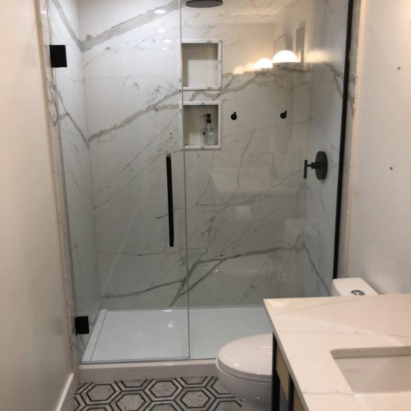 corian quartz shower