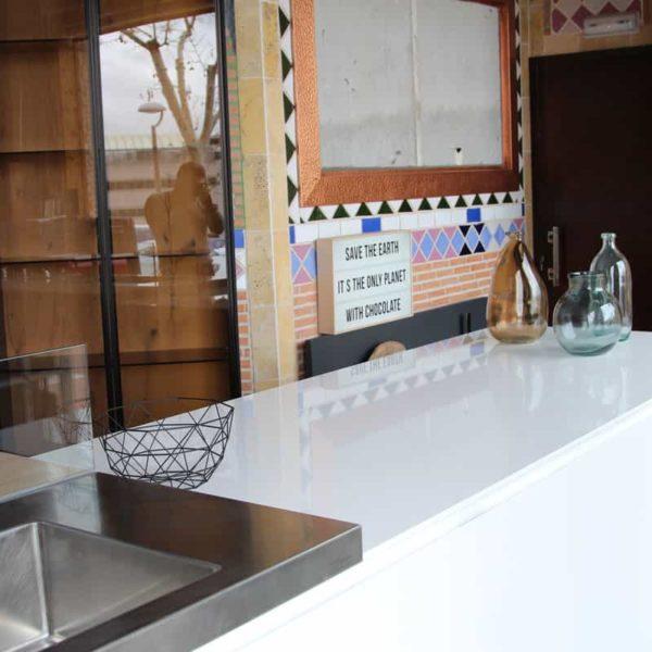 lapitec sintered stone - food service