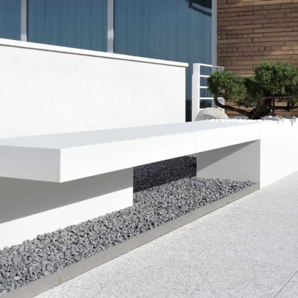 lapitec sintered stone - outdoor bench